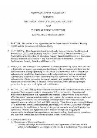 Homeland Memorandum Agreement