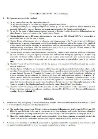 House Tenancy Agreement Template