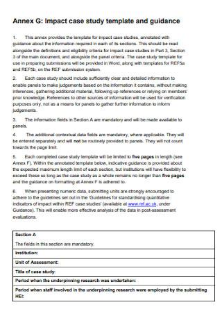 Impact Case Study Template
