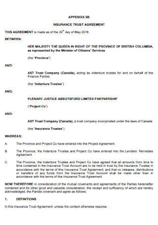 Insurance Trust Agreement