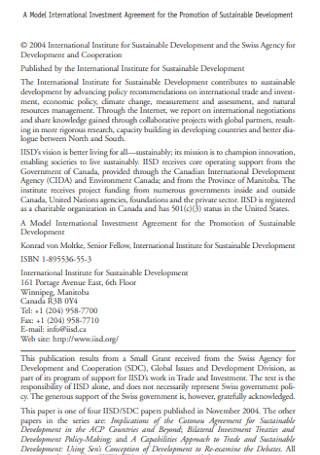 International Investment Agreement