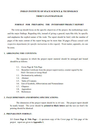 Internship Project Report Template