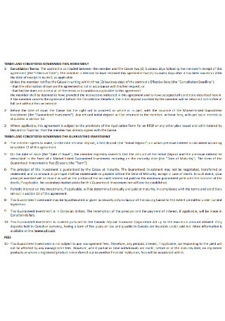 Investment Agreement Format