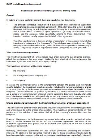 Investment Shareholders Agreement