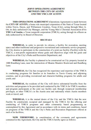 Joint Operations Agreement