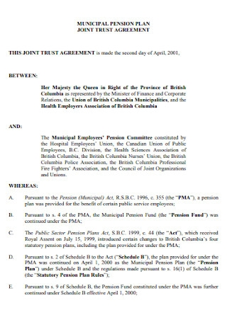 Joint Trust Agreement