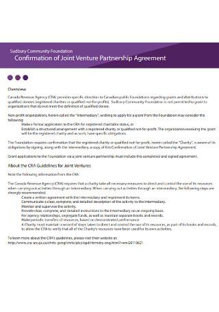Joint Venture Partnership Agreement