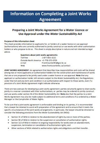 Joint Works Agreement
