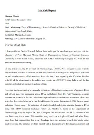 Lab Visit Report