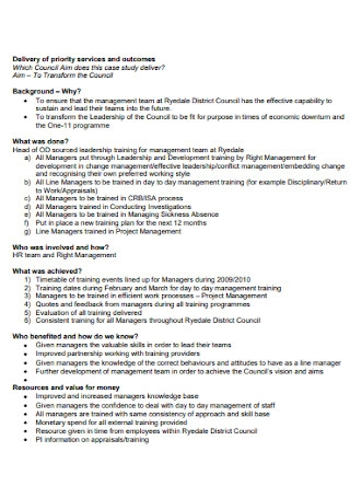 Leadership Case Study Template