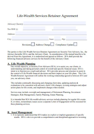 Life Wealth Services Retainer Agreement