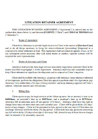 Litigation Retainer Agreement