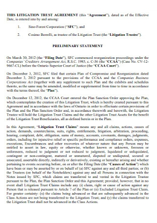 Litigation Trust Agreement