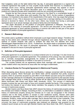 Local Prenuptial Agreement