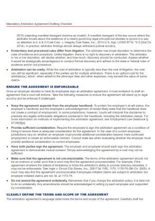 Mandatory Arbitration Agreement