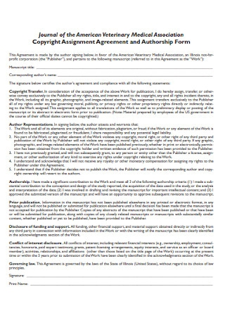 Medical Copyright Assignment Agreement