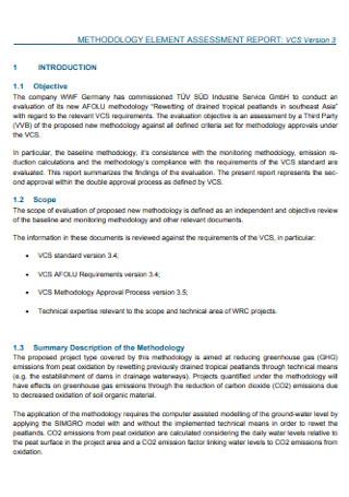 Methodology Assessment Report