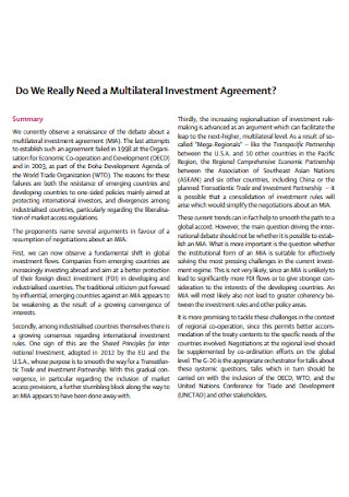 Multilateral Investment Agreement