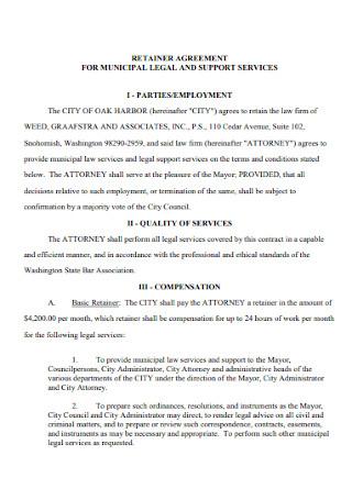 Muncipal Legal Retainer Agreement