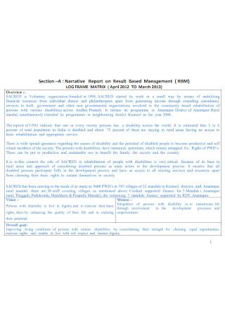 Narrative Management Report