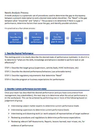 Needs Analysis Process Template