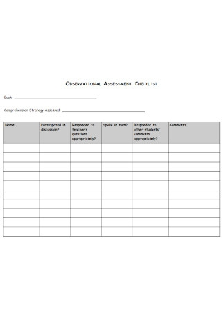 Observational Assessment Checklist