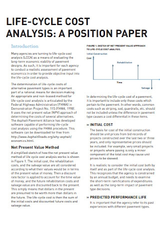 Paper Cost Analysis Template