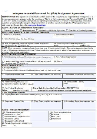 Personnel Assignment Agreement