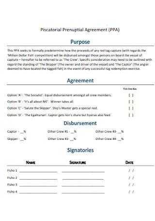 Piscatorial Prenuptial Agreement