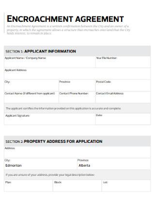 Printable Encroachment Agreement Template