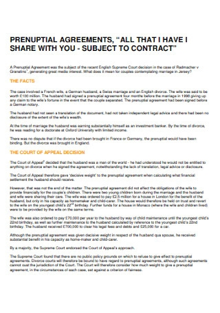 Professional Prenuptial Agreement Template