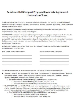 Program Roommate Agreement