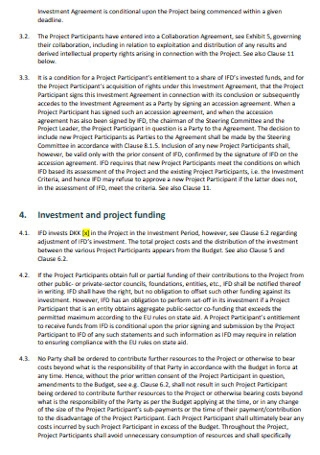 Project Investment Agreement