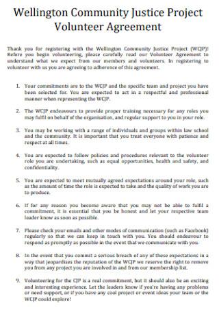 Project Volunteer Agreement