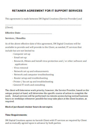 Retainer Agreement for IT Support