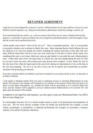 Retainer Law Agreement
