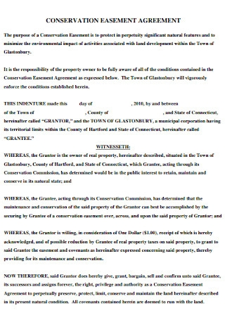 Sample Conservation Easement Agreement