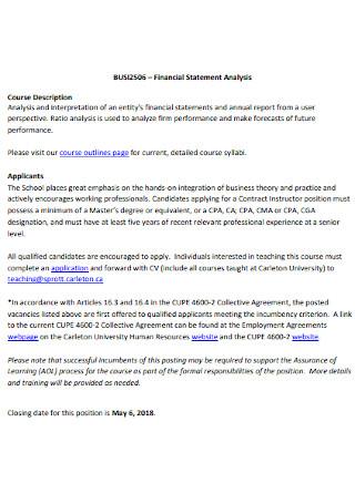 School Financial Statement Analysis