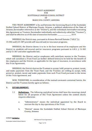 School Trust Agreement Template