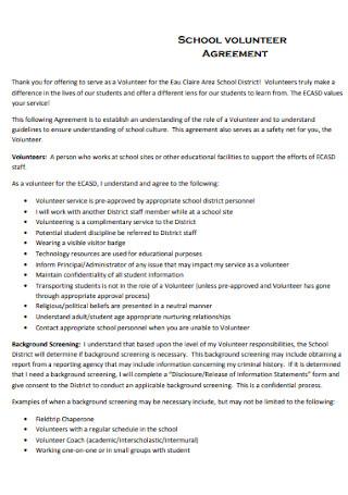 School Volunteer Agreement