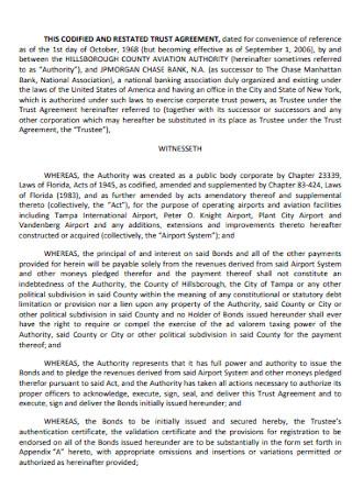Senior Trust Agreement