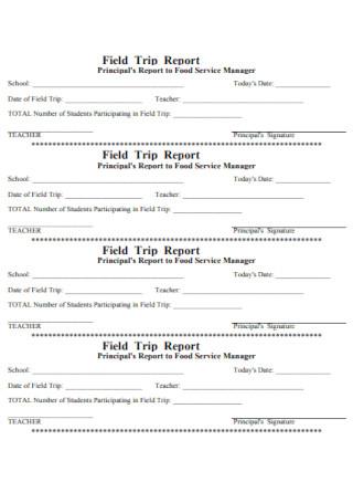 Simple Field Trip Report