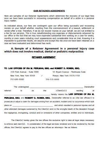 Simple Retainer Agreement Template