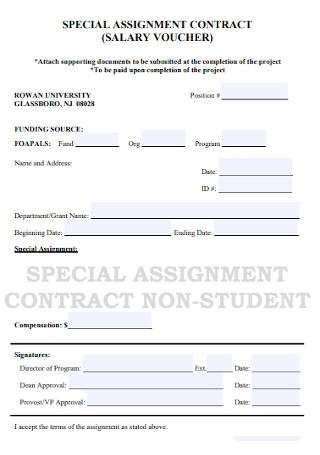 Special Assigment Agreement
