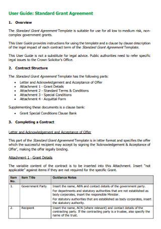 Standard Grant Agreement