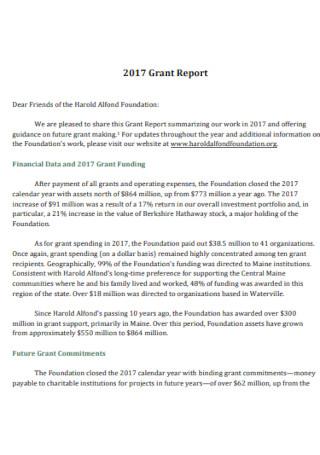 Standard Grant Report Template