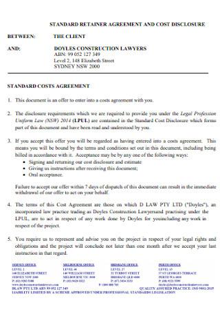 Standard Retainer Agreement