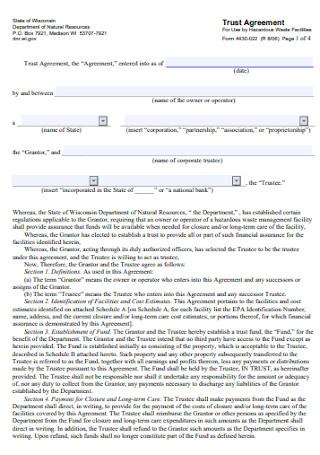 Standard Trust Agreement Template