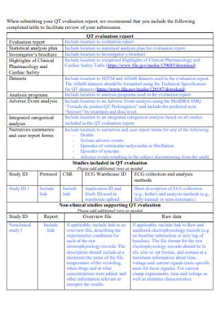 Studies Evaluation Report