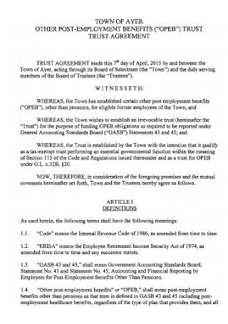 Trust Employment Agreement